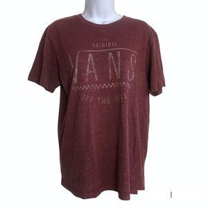 Vans medium tee shirt oversized burgundy space dye burn out